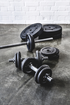 dumbbell barbell