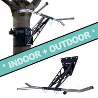 Barre de Dip et Traction Pour Intérieur et Extérieur, Gym Portable Pour Plus de 35 Exercices