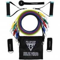Resistance Bands - Set of 5 Strengths With Handles, Foot Straps And Door Anchor