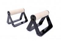 Soporte para flexiones, Push up bars con mangos de madera redondos