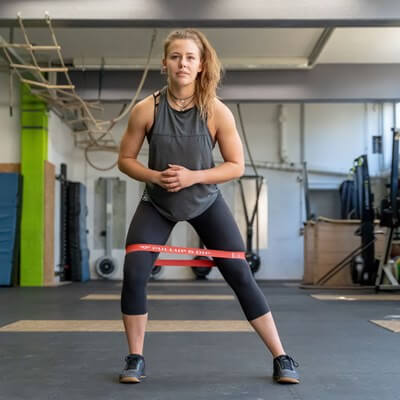 loop bands side lunge