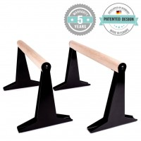 High Quality Wooden Parallettes With Ergonomic Wooden Handle - Low Or Medium Version MEDIUM Parallettes